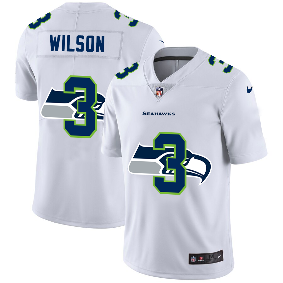Cheap 2020 New Men Seattle Seahawks 3 Wilson White Limited NFL Nike jerseys