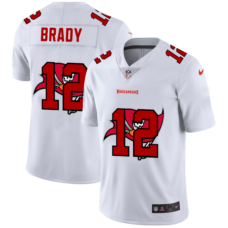 Cheap 2020 New Men Tampa Bay Buccaneers 12 Brady white Limited NFL Nike jerseys