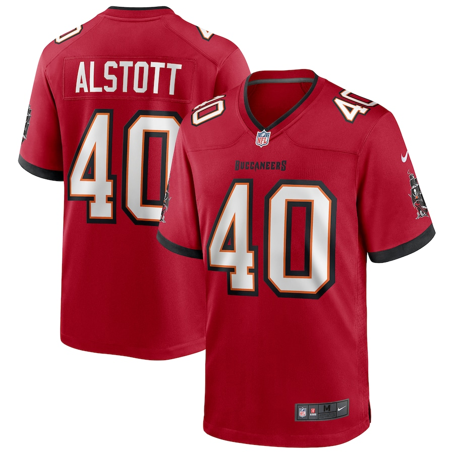 Cheap Customized Men Tampa Bay number 40 Alstott Red Nike Game NFL Jerseys
