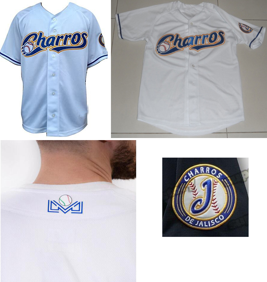 Wholesale El Siglo Charros de Jalisco Baseball Authentic White Jersey New Made Oficial