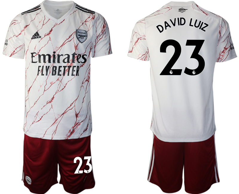 Wholesale Men 2020-2021 club Arsenal away 23 white Soccer Jerseys
