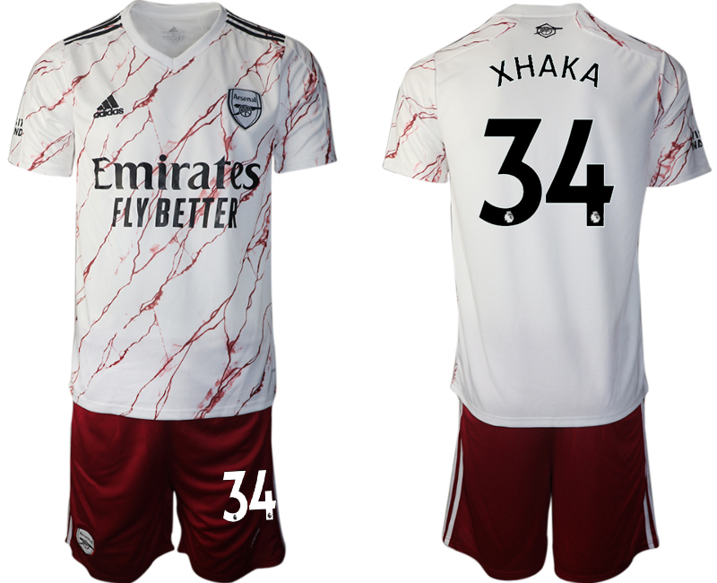 Wholesale Men 2020-2021 club Arsenal away 34 white Soccer Jerseys