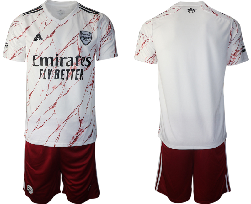 Wholesale Men 2020-2021 club Arsenal away blank white Soccer Jerseys