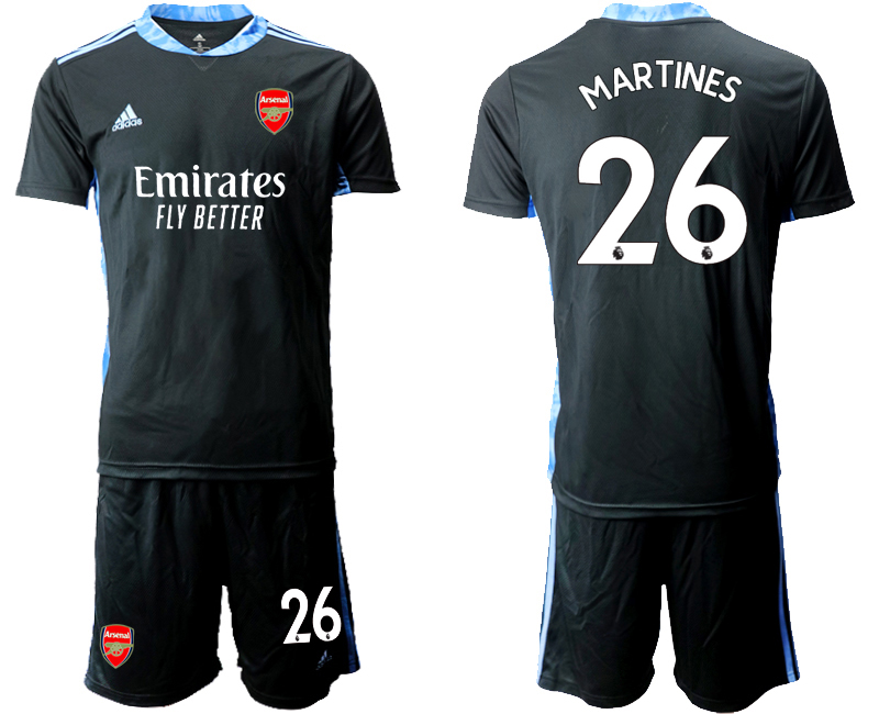 Wholesale Men 2020-2021 club Arsenal black goalkeeper 26 Soccer Jerseys