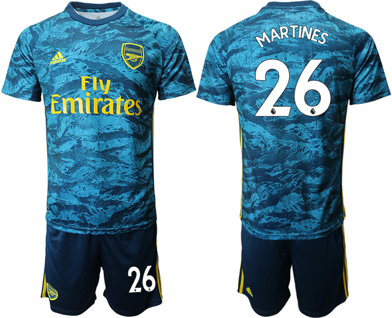 Wholesale Men 2020-2021 club Arsenal blue goalkeeper 26 Soccer Jerseys