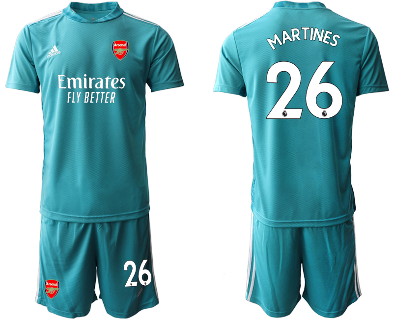 Wholesale Men 2020-2021 club Arsenal blue goalkeeper 26 Soccer Jerseys1
