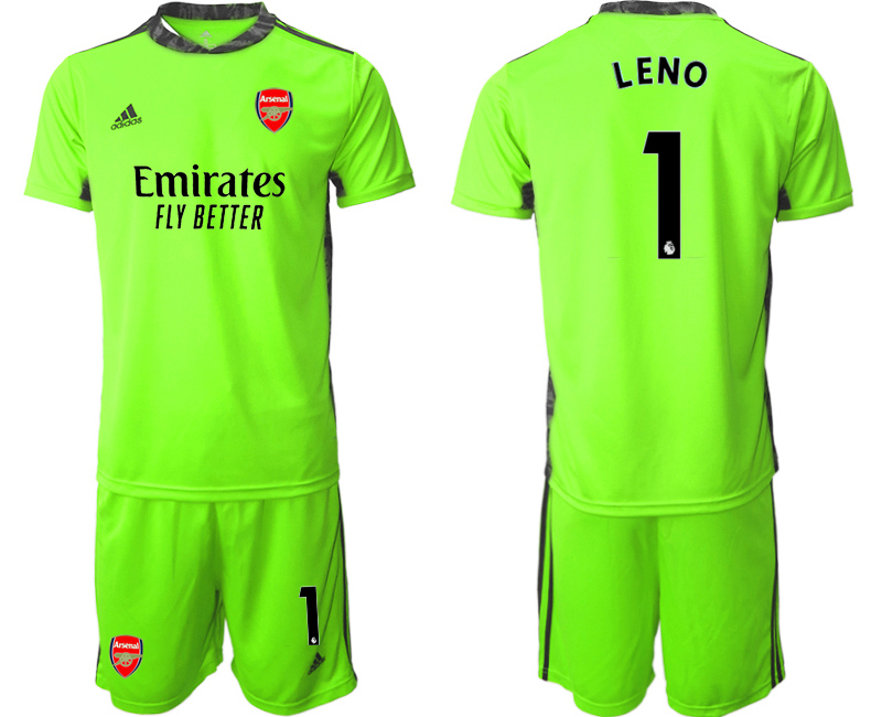 Wholesale Men 2020-2021 club Arsenal fluorescent green goalkeeper 1 Soccer Jerseys