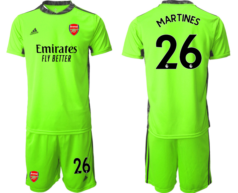Cheap Men 2020-2021 club Arsenal fluorescent green goalkeeper 26 Soccer Jerseys