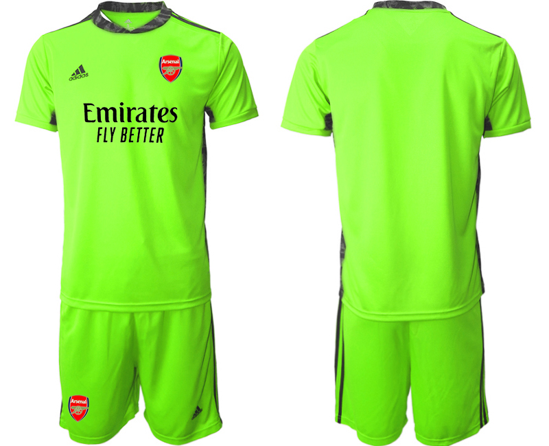 Cheap Men 2020-2021 club Arsenal fluorescent green goalkeeper Soccer Jerseys