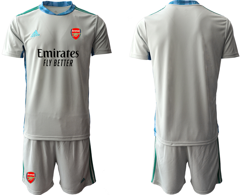 Cheap Men 2020-2021 club Arsenal grey goalkeeper Soccer Jerseys