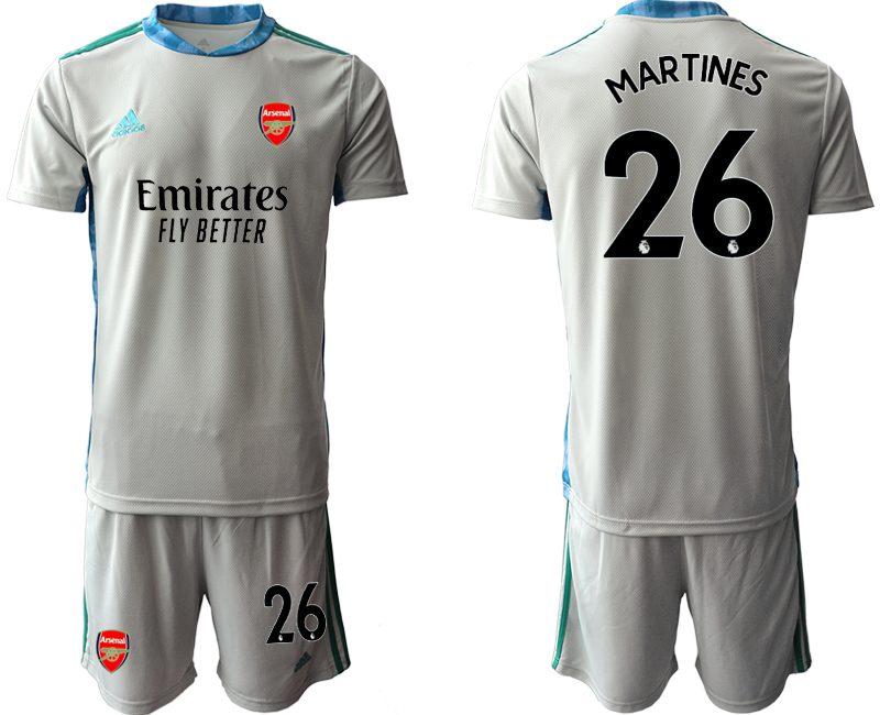 Cheap Men 2020-2021 club Arsenal grey goalkeeper 26 Soccer Jerseys