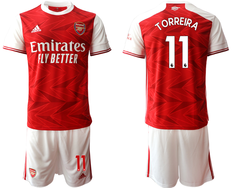 Cheap Men 2020-2021 club Arsenal home 11 red Soccer Jerseys