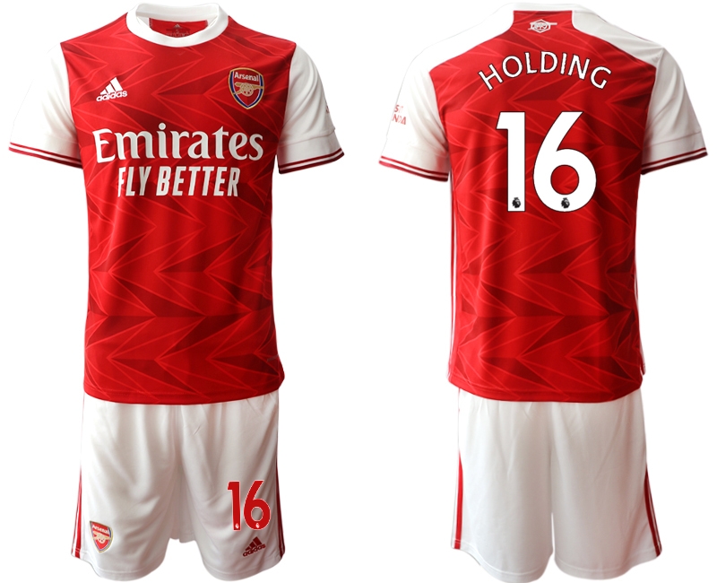 Cheap Men 2020-2021 club Arsenal home 16 red Soccer Jerseys