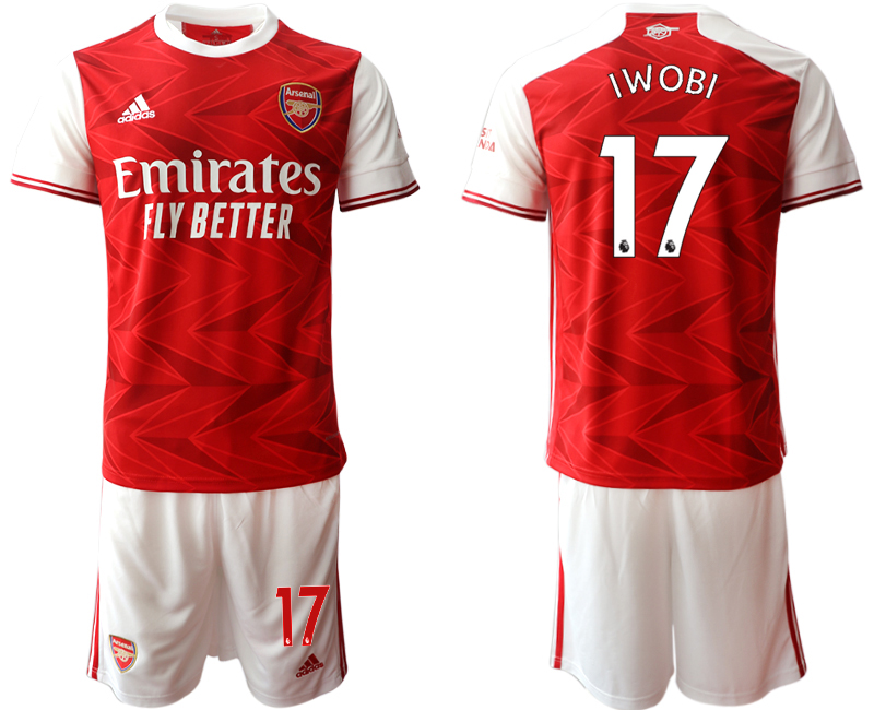 Cheap Men 2020-2021 club Arsenal home 17 red Soccer Jerseys