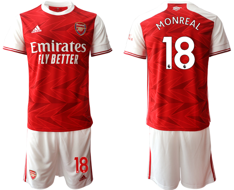 Cheap Men 2020-2021 club Arsenal home 18 red Soccer Jerseys