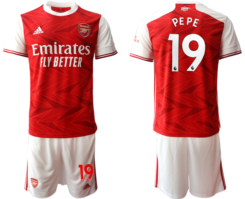 Cheap Men 2020-2021 club Arsenal home 19 red Soccer Jerseys