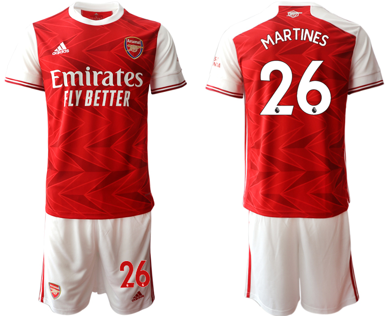 Cheap Men 2020-2021 club Arsenal home 26 red Soccer Jerseys