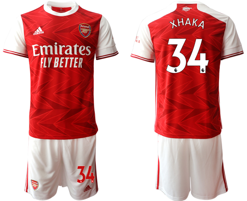 Cheap Men 2020-2021 club Arsenal home 34 red Soccer Jerseys
