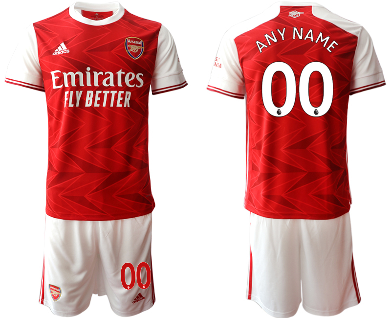 Cheap Men 2020-2021 club Arsenal home customized red Soccer Jerseys