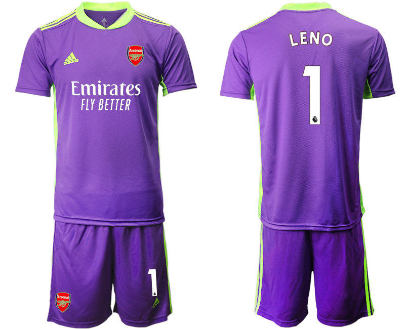 Cheap Men 2020-2021 club Arsenal purple goalkeeper 1 Soccer Jerseys