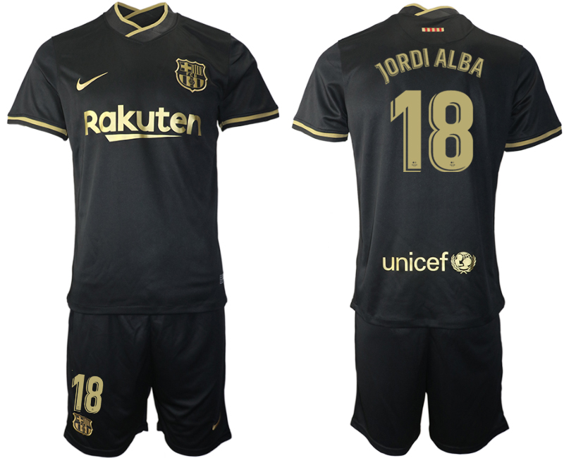 Wholesale Men 2020-2021 club Barcelona away 18 black Soccer Jerseys