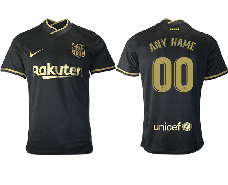 Wholesale Men 2020-2021 club Barcelona away aaa version customized black Soccer Jerseys