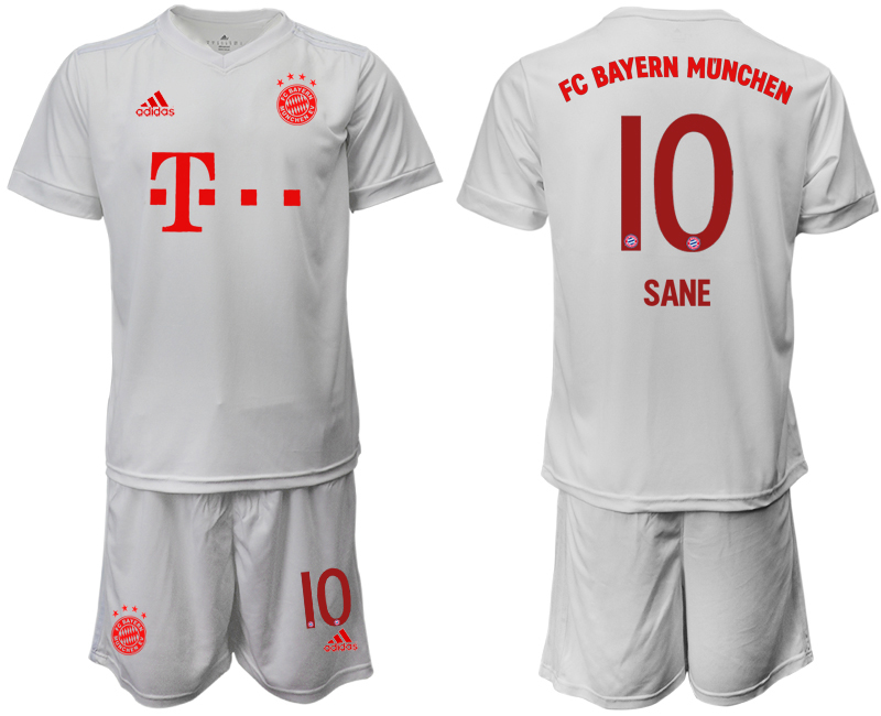 Wholesale Men 2020-2021 club Bayern Munich away 10 white goalkeeper Soccer Jerseys