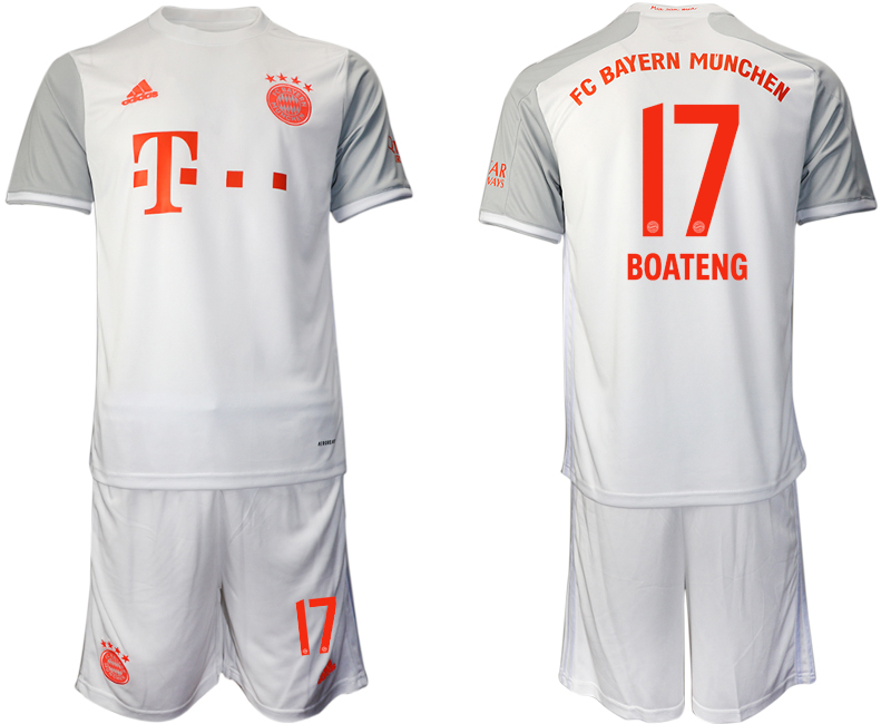 Wholesale Men 2020-2021 club Bayern Munich away 17 white Soccer Jerseys