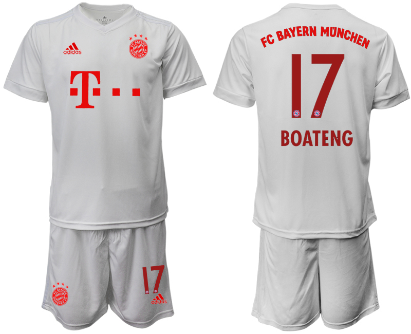 Wholesale Men 2020-2021 club Bayern Munich away 17 white goalkeeper Soccer Jerseys