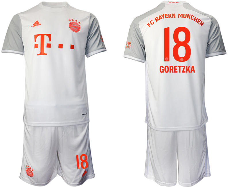 Wholesale Men 2020-2021 club Bayern Munich away 18 white Soccer Jerseys