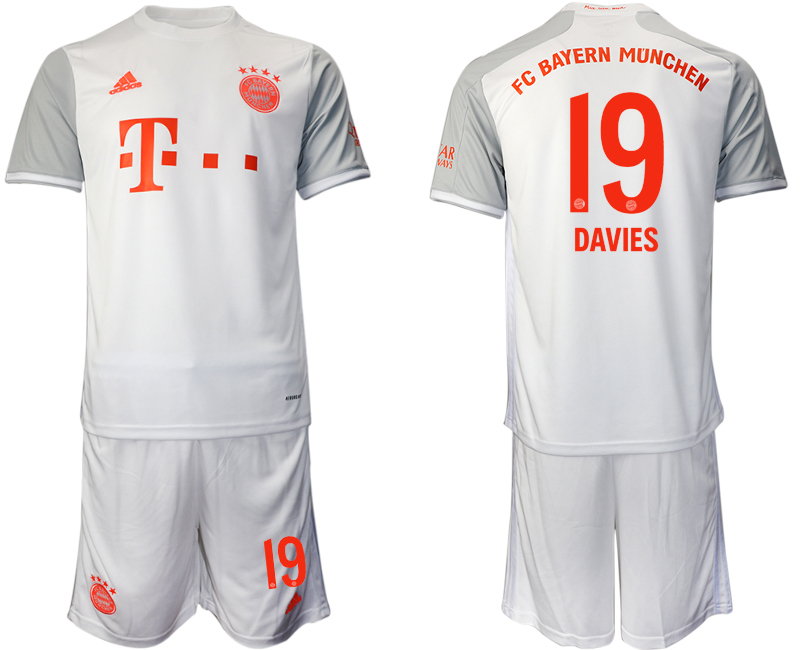 Wholesale Men 2020-2021 club Bayern Munich away 19 white Soccer Jerseys