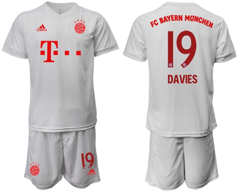 Wholesale Men 2020-2021 club Bayern Munich away 19 white goalkeeper Soccer Jerseys