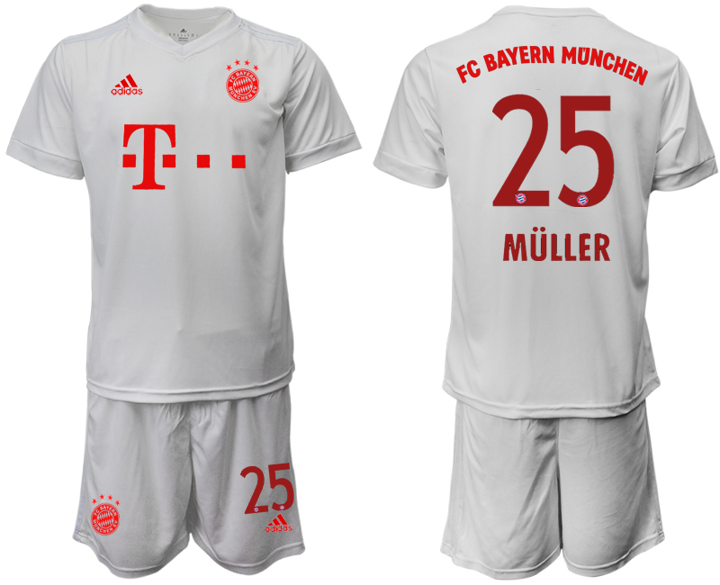 Wholesale Men 2020-2021 club Bayern Munich away 25 white goalkeeper Soccer Jerseys