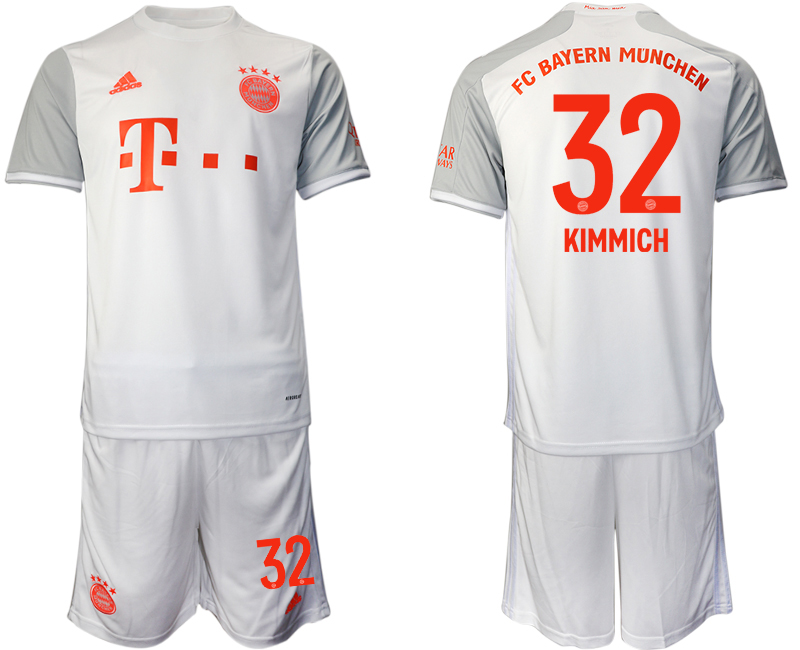 Wholesale Men 2020-2021 club Bayern Munich away 32 white Soccer Jerseys