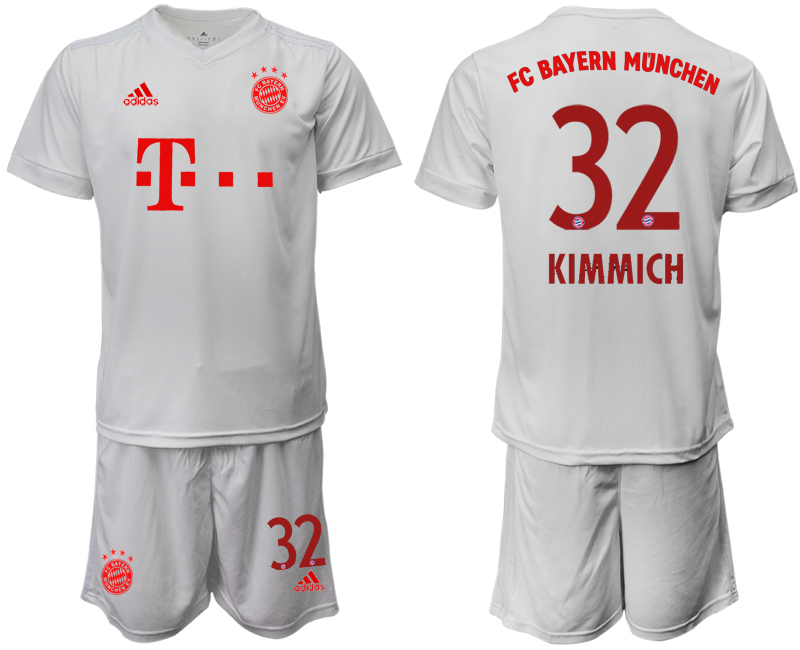 Wholesale Men 2020-2021 club Bayern Munich away 32 white goalkeeper Soccer Jerseys