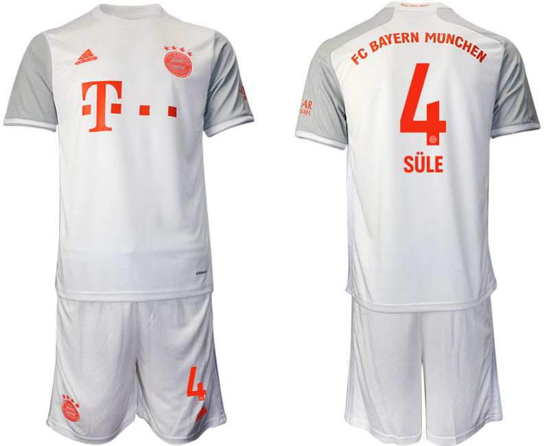 Wholesale Men 2020-2021 club Bayern Munich away 4 white Soccer Jerseys