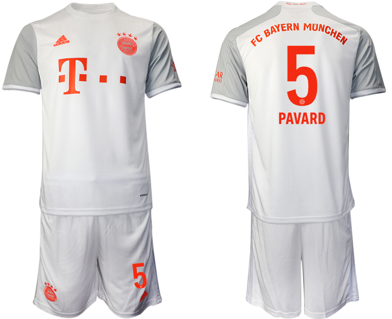 Wholesale Men 2020-2021 club Bayern Munich away 5 white Soccer Jerseys