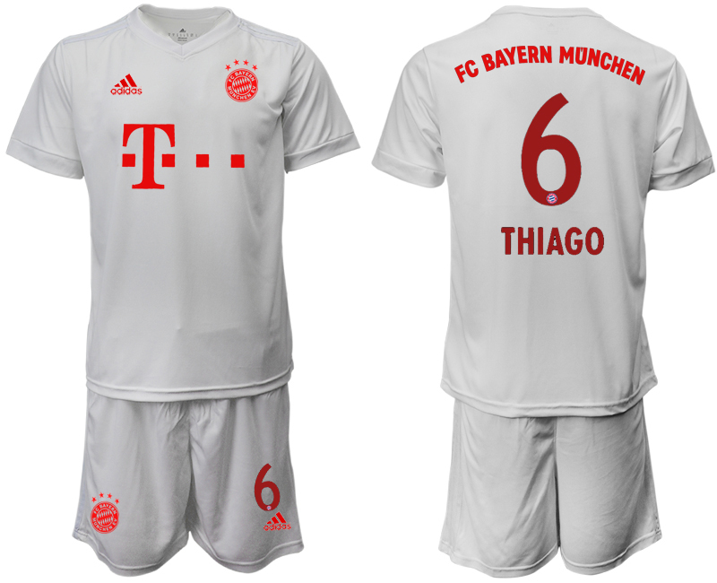 Wholesale Men 2020-2021 club Bayern Munich away 6 white goalkeeper Soccer Jerseys