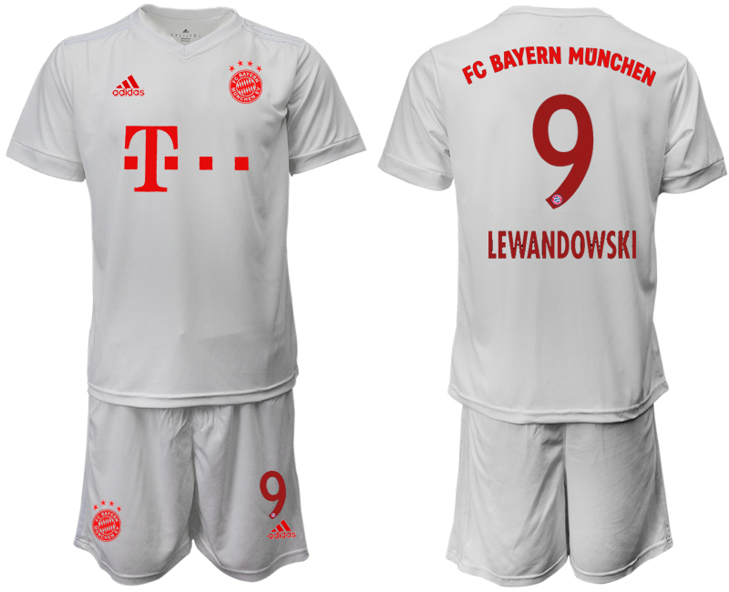 Wholesale Men 2020-2021 club Bayern Munich away 9 white goalkeeper Soccer Jerseys