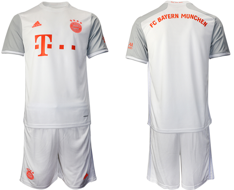 Wholesale Men 2020-2021 club Bayern Munich away white Soccer Jerseys
