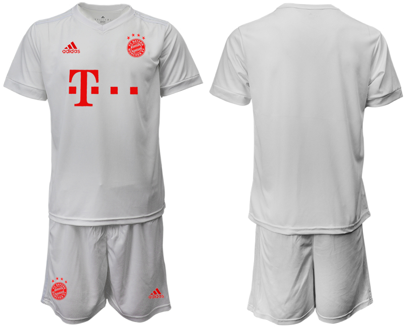 Wholesale Men 2020-2021 club Bayern Munich away white goalkeeper Soccer Jerseys