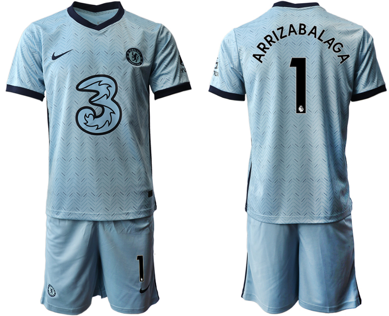 Cheap Men 2020-2021 club Chelsea away Light blue 1 Soccer Jerseys