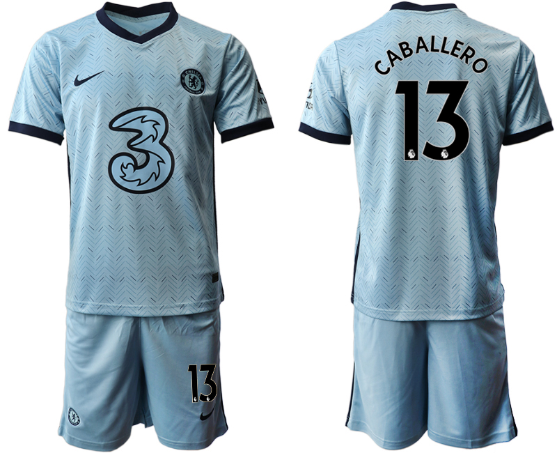 Wholesale Men 2020-2021 club Chelsea away Light blue 13 Soccer Jerseys