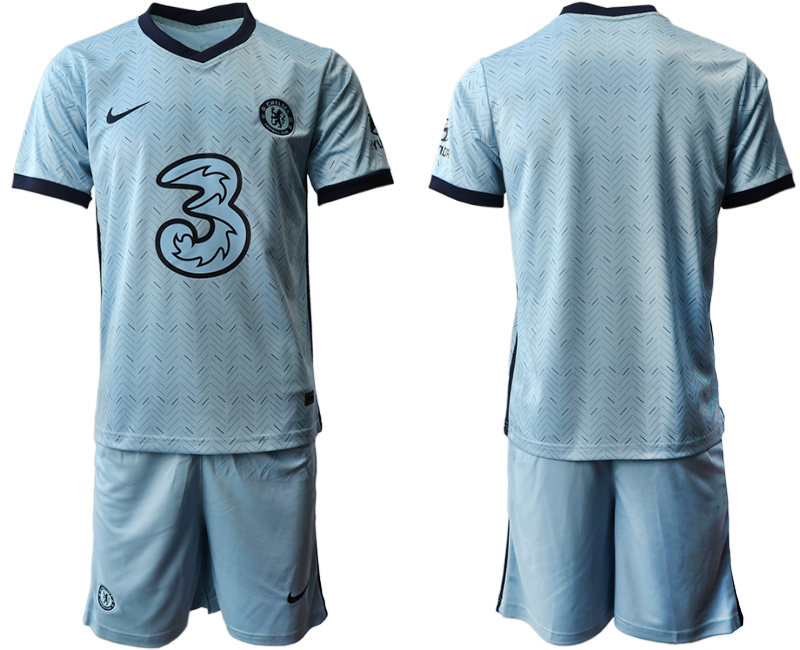 Wholesale Men 2020-2021 club Chelsea away blank Light blue Soccer Jerseys