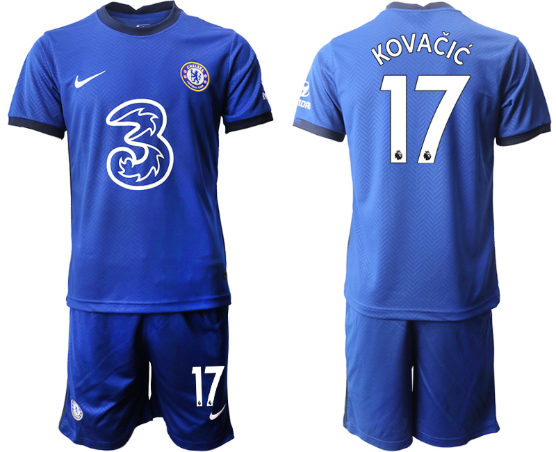 Wholesale Men 2020-2021 club Chelsea home 17 blue Soccer Jerseys