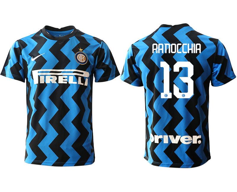 Cheap Men 2020-2021 club Inter Milan home aaa versio 13 blue Soccer Jerseys
