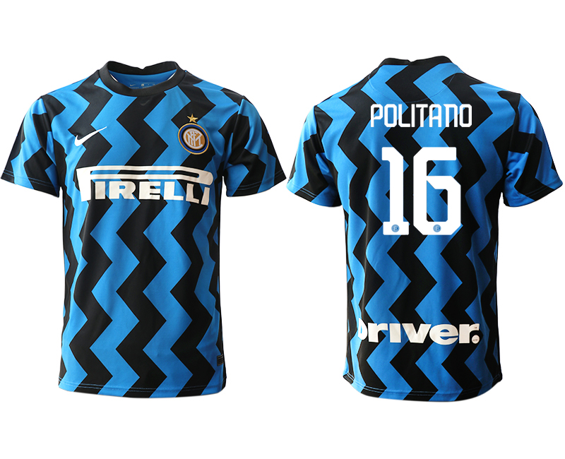 Cheap Men 2020-2021 club Inter Milan home aaa versio 16 blue Soccer Jerseys