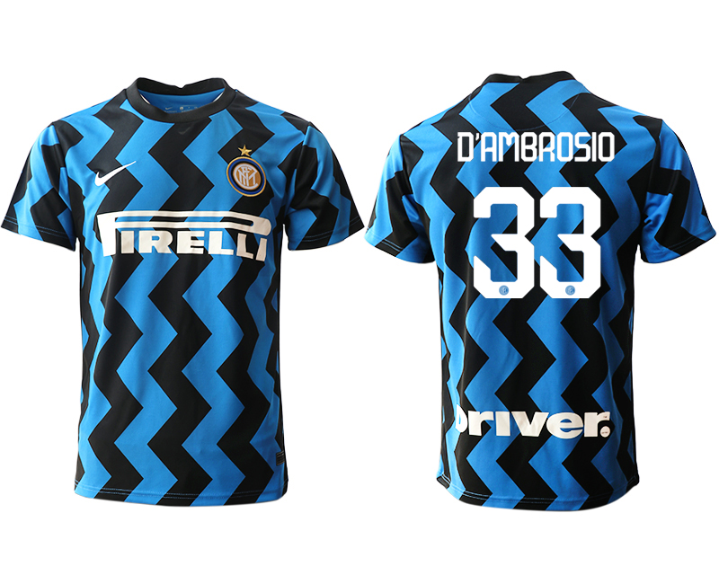 Cheap Men 2020-2021 club Inter Milan home aaa versio 33 blue Soccer Jerseys