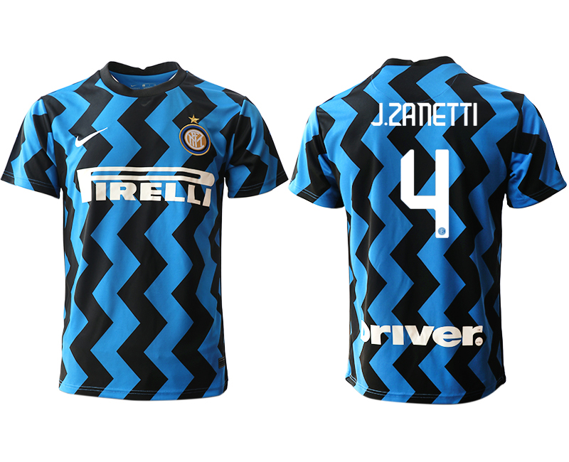 Cheap Men 2020-2021 club Inter Milan home aaa versio 4 blue Soccer Jerseys
