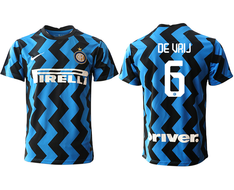 Cheap Men 2020-2021 club Inter Milan home aaa versio 6 blue Soccer Jerseys
